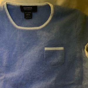 Light blue 100% cashmere tee